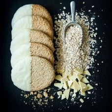 White Chocolate Oat Biscuits - 6 per pack. 300g