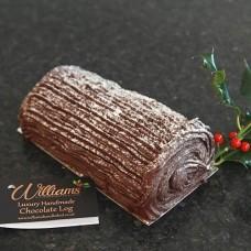 Luxury Handmade Chocolate Yule Log. 454g