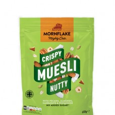Mornflake Crispy Muesli Nutty, No Added Sugar, 650g