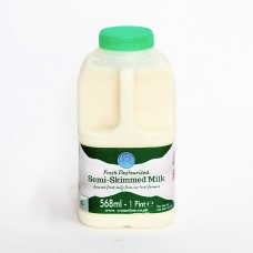 1 Pint Semi-Skimmed Milk - Poly Bottle