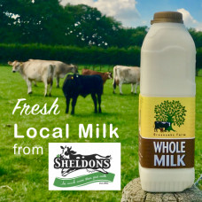1 Litre Whole Jersey Milk (Gold Top) from Greenaoks Farm, Mobberley